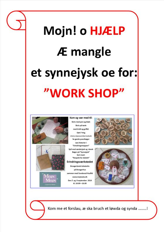 Work shop å synnejysk